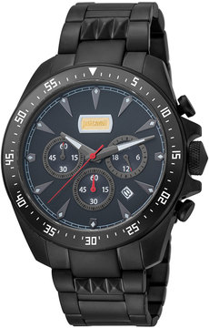 Just Cavalli 44mm Men's Sport Chrono Watch w/ Bracelet, Black