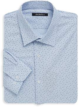 Saks Fifth Avenue BLACK Men's Floral Dotted Dress Shirt