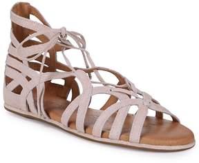 Gentle Souls Women's Break My Heart Metallic Woven Sandals