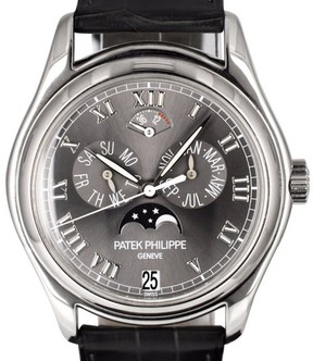 Patek Philippe 5056P-001 Platinum / Genuine Leather 37mm Mens Watch