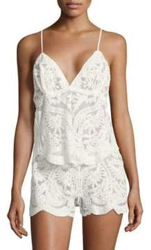 Flora Nikrooz Dorothy Embroidered Camisole and Shorts Set