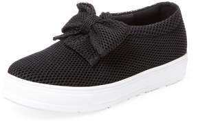 F-Troupe Women's Mesh Bow Slip-On Sneaker