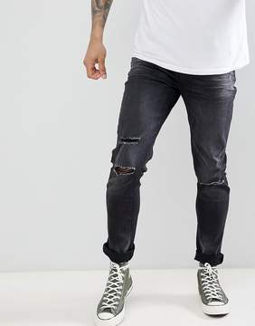 Le Breve Skinny Ripped Jeans