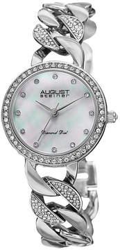 August Steiner Womens Silver Tone Strap Watch-As-8190ss