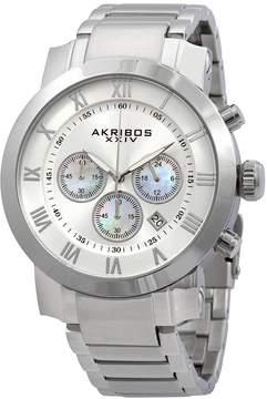 Akribos XXIV Akribos Grandiose Chronograph Silver Dial Stainless Steel Men's Watch