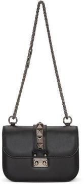 Valentino Black Garavani Small Rockstud Noir Lock Bag