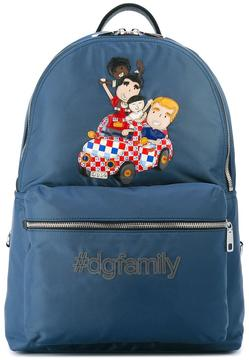 Dolce & Gabbana Volcano DG family patch backpack