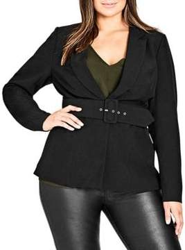 City Chic Plus Strapped-In Jacket