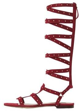 Mango Outlet Leather gladiator sandals