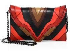 Elena Ghisellini Selina Multicolor Leather Crossbody Bag