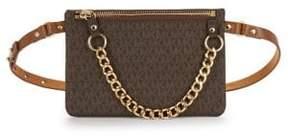MICHAEL Michael Kors Small Leather Handbag - CHOCOLATE - STYLE