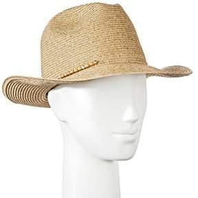Merona Women's Panama Hat with Wood Beads - Tan