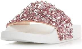 Head Over Heels *Head Over Heels by Dune White 'Luxe' Flat Sandals