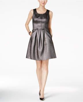 Nine West Metallic Fit & Flare Dress