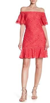 Eliza J Off-the-Shoulder Lace Dress