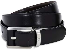 Montblanc Contemporary Reversible Leather Belt - Black/Brown