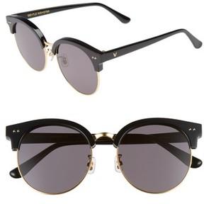 Gentle Monster Women's Moon Cut 54Mm Rounded Sunglasses - Black