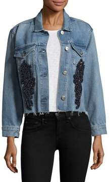 3x1 Burke Crop Beaded Embroidered Jacket