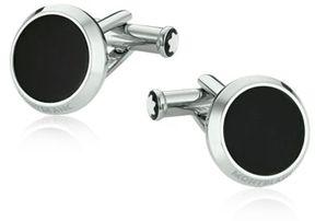 Montblanc Meisterstück Steel & Onyx Cufflinks