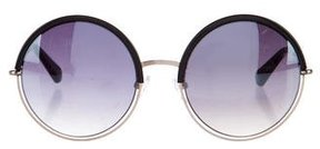 Balmain Gradient Round Sunglasses