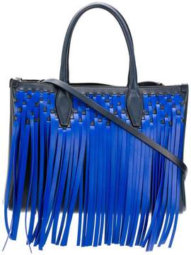 Lanvin fringed tote bag
