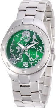 Marvel Fortaleza Incredible Hulk Mens Silver-Tone & Green Watch