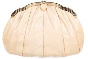 Judith Leiber Large Python Frame Shoulder Bag