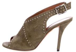Givenchy Suede Slingback Booties