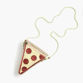 J.Crew Girls' glitter pizza slice bag