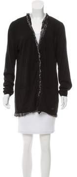 Burberry Ruffled-Trim Long Sleeve Cardigans