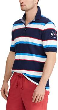 Chaps Big & Tall Regular-Fit Striped Stretch Mesh Polo