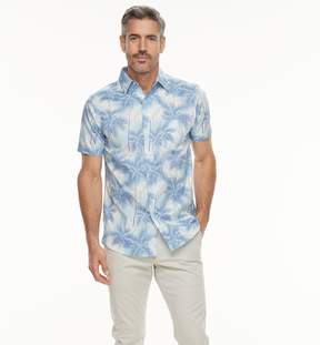 Haggar Men's Island Ease Classic-Fit Stretch Button-Down Shirt
