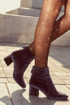 Urban Outfitters Harlow Velvet O-Ring Ankle Boot