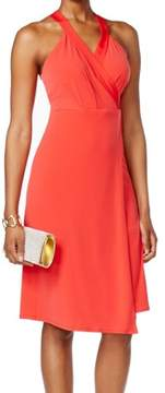 BCBGeneration Women's Sleeveless Faux-Wrap Dress