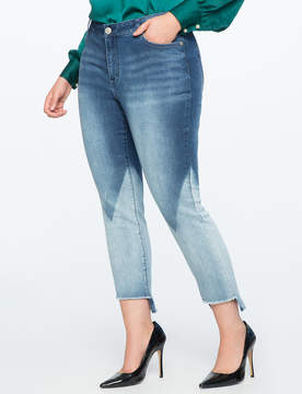 ELOQUII Bleach Blocked Skinny Jeans