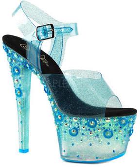 Pleaser USA Women's Sky 308UVMG Ankle-Strap Sandal