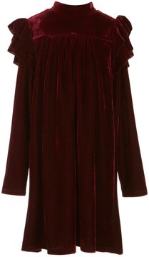 Soprano Big Girls 7-16 Long-Sleeve Velvet Shift Dress