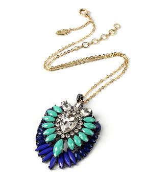 Amrita Singh Teal Lapis Artistry Ombre Pendant Necklace