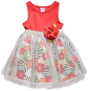 Sweet Heart Rose Floral-Print Sundress, Baby Girls