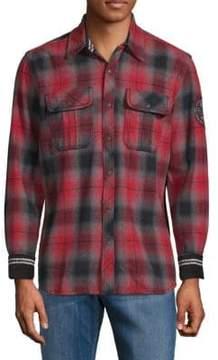 Affliction Boardwalk Cotton Plaid Shirt