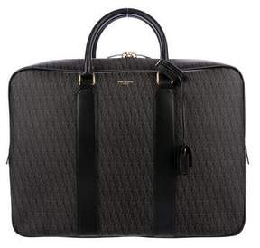 Saint Laurent Large Toile Monogram Briefcase
