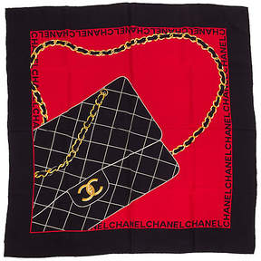 One Kings Lane Vintage Chanel Rare Silk Quilted Flap Bag Scarf