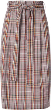 Creatures of the Wind plaid print tie waist skirt