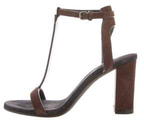 Brunello Cucinelli Leather Monili-Trimmed Sandals