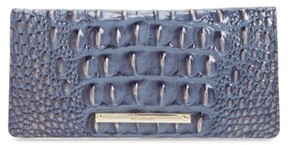 Women's Brahmin 'Ady' Croc Embossed Continental Wallet - Blue