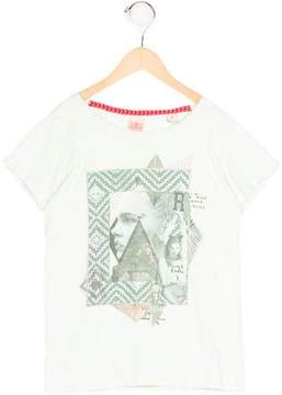 Scotch R'Belle Girls' Abstract Print Short Sleeve Top
