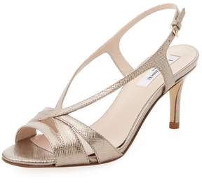 LK Bennett L.K.Bennett Women's Metallic Leather Sandal
