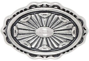 American West Sterling Silver Concha DesignOval Enhancer