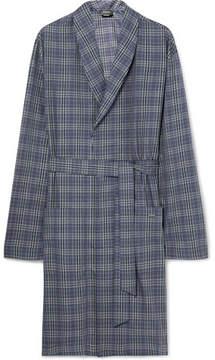 Hanro Fynn Checked Cotton-Flannel Robe
