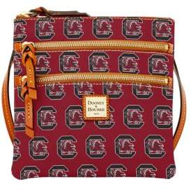 Dooney & Bourke University of South Carolina Gamecocks Triple Zip Crossbody Bag - RED - STYLE